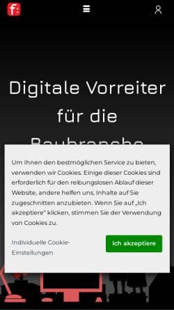 Vorschau der mobilen Webseite www.fdata.de, F:data GmbH