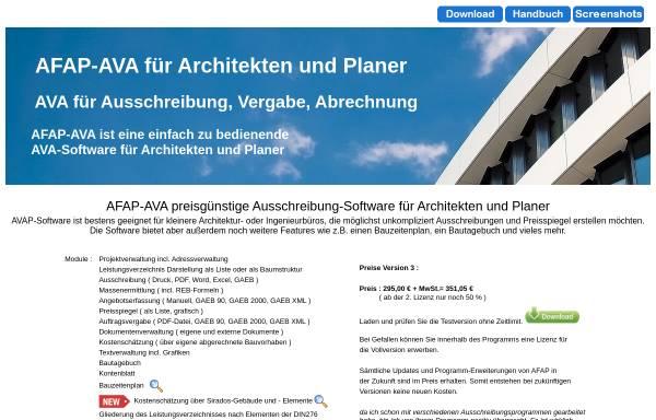 Vorschau von www.afap-ava.de, AFAP Software