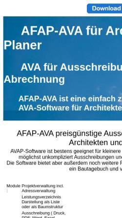 Vorschau der mobilen Webseite www.afap-ava.de, AFAP Software
