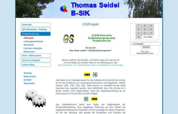 Vorschau von www.gsprojekt.de, GSProjekt