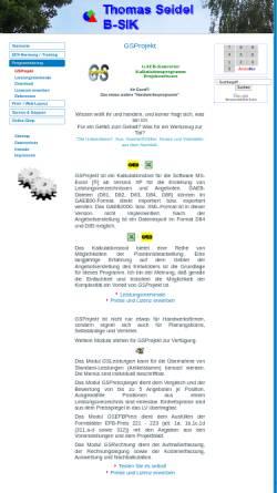Vorschau der mobilen Webseite www.gsprojekt.de, GSProjekt
