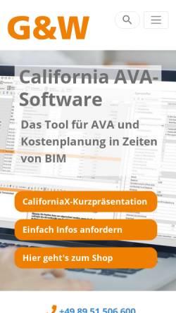Vorschau der mobilen Webseite www.gw-software.de, G&W Software Entwicklung GmbH