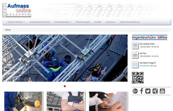 Vorschau von www.aufmass-online.de, Wittke, Franziska - Ingenieurbüro IBW