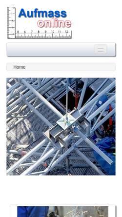 Vorschau der mobilen Webseite www.aufmass-online.de, Wittke, Franziska - Ingenieurbüro IBW