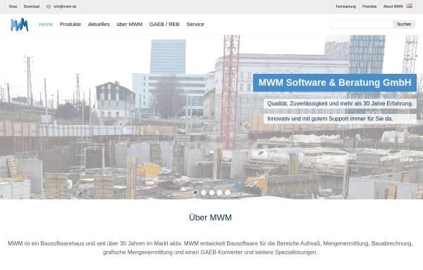 Vorschau von www.mwm.de, MWM Software & Beratung GmbH