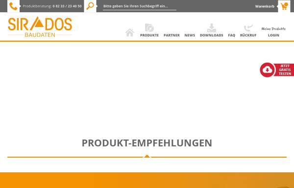 Vorschau von www.sirados.de, sirAdos GmbH