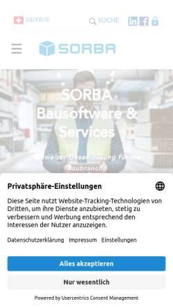 Vorschau der mobilen Webseite www.sorba.ch, Sorba EDV AG