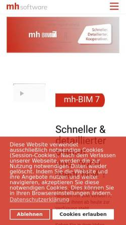 Vorschau der mobilen Webseite www.mh-software.de, MH-Software GmbH