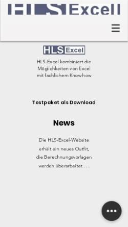 Vorschau der mobilen Webseite www.hls-excel.de, Stefan Brinkmann