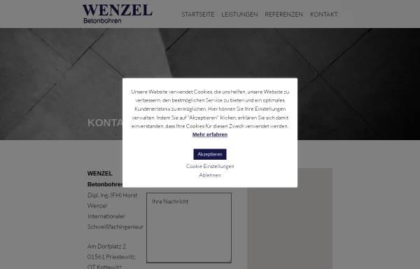 Vorschau von www.wenzel-betonbohren.de, Wenzel Betonbohren GmbH