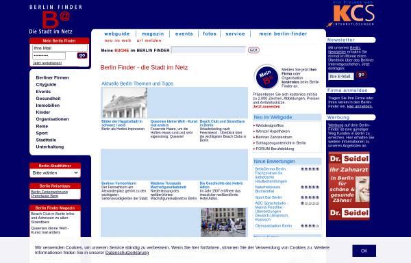 Vorschau von www.berlin-finder.de, Berlin Finder