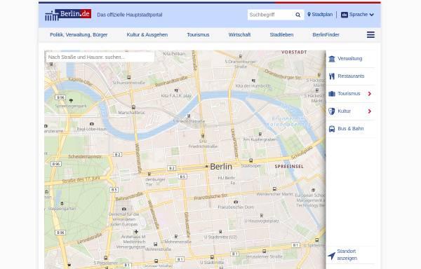 Vorschau von www.berlin.de, Berlin.de - Stadtplan