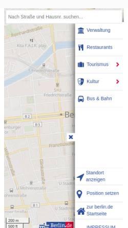 Vorschau der mobilen Webseite www.berlin.de, Berlin.de - Stadtplan