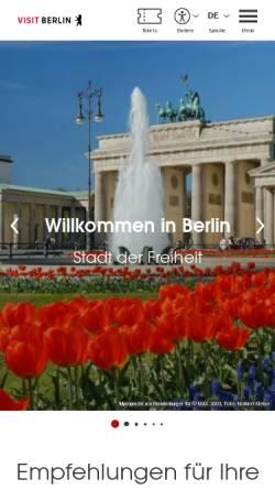 Vorschau der mobilen Webseite www.visitberlin.de, Die Berliner Mauer