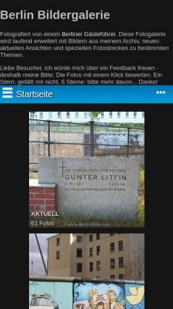 Vorschau der mobilen Webseite www.berlin-bildergalerie.de, Bilder aus Berlin und Potsdam