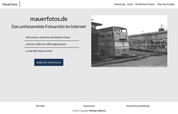 Vorschau von www.mauerfotos.de, 500 Fotos der Berliner Mauer