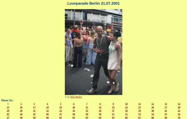 Vorschau von www.thomasius.de, 140 Photos von der Loveparade 2001