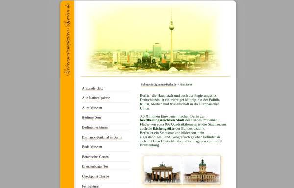 Vorschau von www.sehenswuerdigkeiten-berlin.de, Sehenswürdigkeiten-Berlin.de