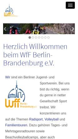 Vorschau der mobilen Webseite www.wff-berlin.de, Jugendverein WfF Berlin-Brandenburg e.V.