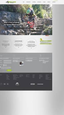 Vorschau der mobilen Webseite www.bikenfun.de, Bike'n'Fun La Palma