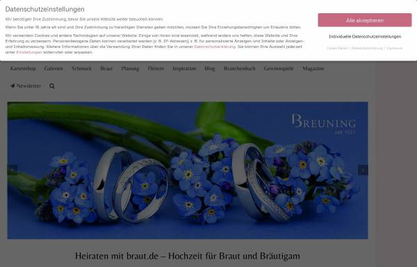 Vorschau von www.braut.de, Braut.de