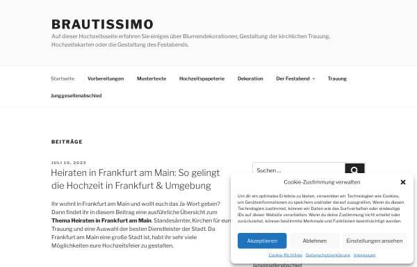 Vorschau von www.brautissimo.de, Brautissimo