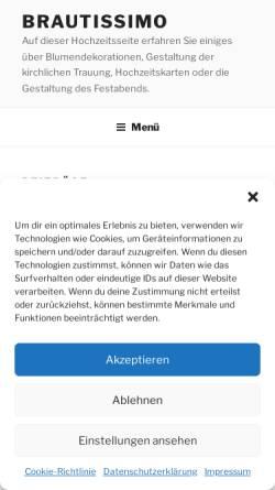 Vorschau der mobilen Webseite www.brautissimo.de, Brautissimo
