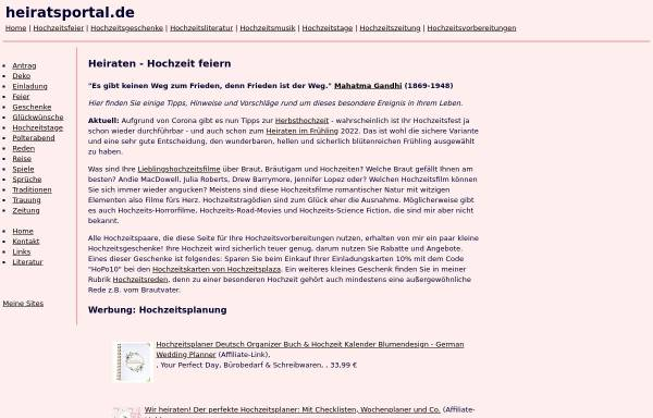 Vorschau von www.heiratsportal.de, Heiratsportal