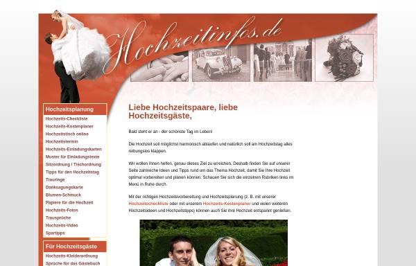 Vorschau von www.hochzeitinfos.de, Hochzeitinfos.de