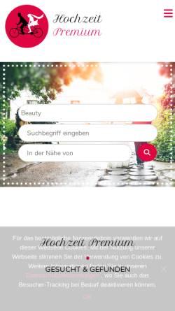 Vorschau der mobilen Webseite www.hochzeit-premium.de, Hochzeit Premium