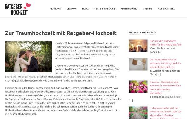 Vorschau von www.ratgeber-hochzeit.de, Ratgeber Hochzeit