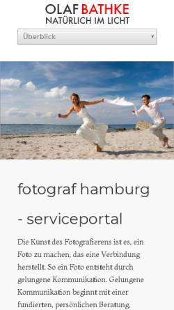 Vorschau der mobilen Webseite www.photographhamburg.de, Bathke, Olaf