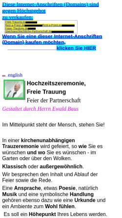 Vorschau der mobilen Webseite www.ewald-baus.onlinehome.de, Baus, Ewald