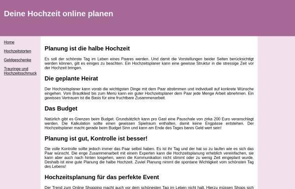 Vorschau von www.hochzeitonline.de, Erstellung einer Hochzeitswebsite