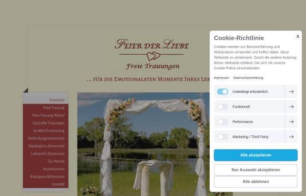 Vorschau von www.freie-trauung.com, Feier der Liebe - Freie Trauungen, Eva Wester