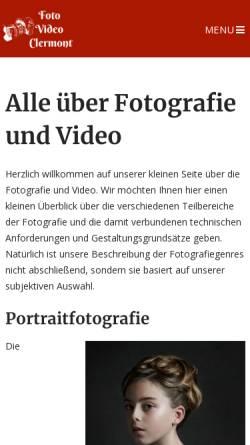 Vorschau der mobilen Webseite foto-video-clermont.de, Foto & Video Clermont