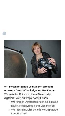 Vorschau der mobilen Webseite www.fotoflair.ch, FotoFlair