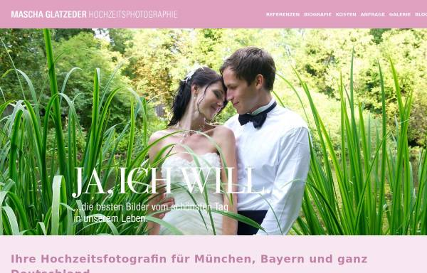 Vorschau von www.hochzeitsphotographie.com, Mascha Glatzeder