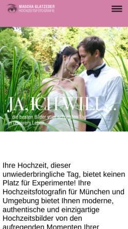 Vorschau der mobilen Webseite www.hochzeitsphotographie.com, Mascha Glatzeder
