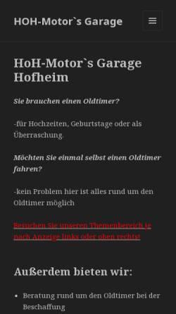 Vorschau der mobilen Webseite www.oldtimer-hochzeiten.de, Oldtimer-Hochzeiten, Steffen Hesse