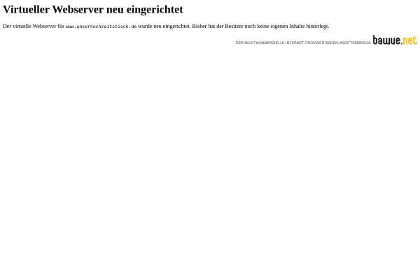 Vorschau von www.unserhochzeitstisch.de, Virtueller Hochzeitstisch
