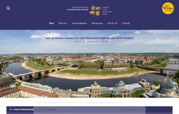 Vorschau von kirchspiel-dresden-neustadt.de, Kirchspiel Dresden Neustadt