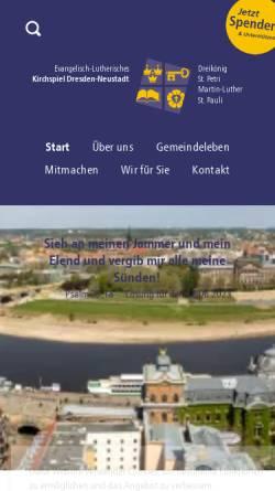 Vorschau der mobilen Webseite kirchspiel-dresden-neustadt.de, Kirchspiel Dresden Neustadt
