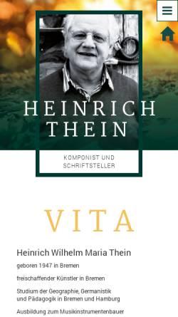 Vorschau der mobilen Webseite www.thein-heinrich.de, Thein, Heinrich