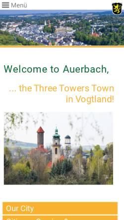 Vorschau der mobilen Webseite www.stadt-auerbach.de, Auerbach