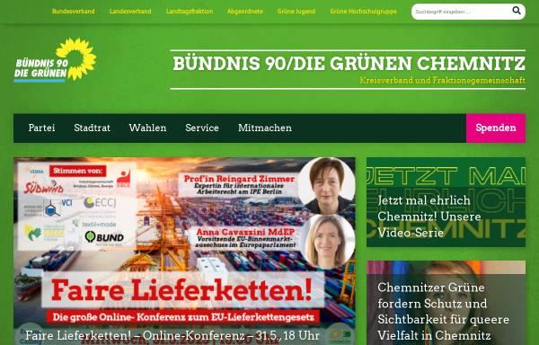 Vorschau von gruene-chemnitz.de, Bündnis 90/Die Grünen Chemnitz