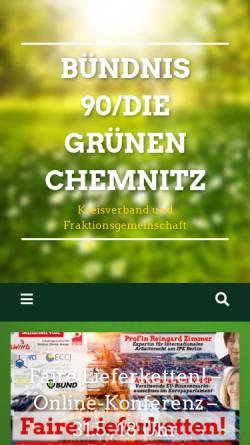 Vorschau der mobilen Webseite gruene-chemnitz.de, Bündnis 90/Die Grünen Chemnitz