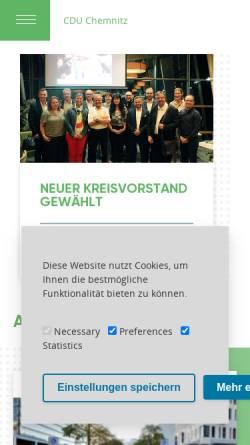 Vorschau der mobilen Webseite www.cdu-chemnitz.de, CDU Chemnitz