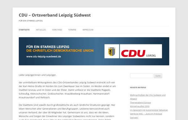 Vorschau von cdu-leipzig-suedwest.de, CDU-Ortsverband Leipzig-Südwest