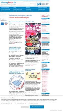 Vorschau der mobilen Webseite bildung.koeln.de, bildung.koeln.de